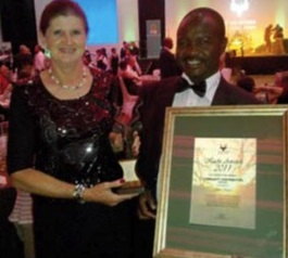 SANPARKS Kudu award for Community contribution to conservation 2011, awarded in November 2012